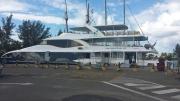 Cat Cocos Transfer im Hafen Mahés