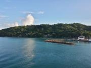 Ankunft im Hafen Praslins